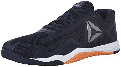 Reebok Men's ROS Workout TR 2.0 Cross-Trainer Shoe, Collegiate Navy/Wild Orange, 11.5 M US