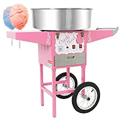 candy cloud cotton candy machine with mobile cart