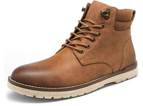 VOSTEY Men's Hiking Boots Waterproof Casual Chukka Boot for Men(BMY670B Yellow Brown 10)