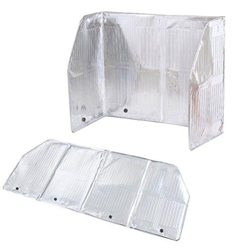 BESTONZON Pantalla Contra Salpicaduras de Aceite, Papel de Aluminio, Fácil de Limpiar, Utensilios de Cocina (120 x 50 cm)