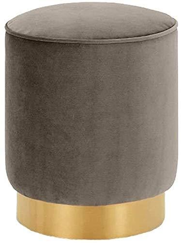 LYQQQQ Reposapiés Sofá Franela Maquillaje heces Suave y cómodo Elegante del Asiento Banco de Madera Dormitorio-Taburete sofá de la Sala de heces (Size : 40 * 35cm)