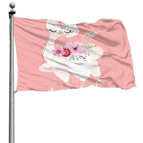 Mesllings - Soporte decorativo para bandera de jardín (120 x 180 cm, poliéster, con ojales decorativos)