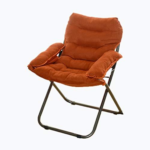 Rest ordförande läsfåtöljen kontorsstol Sova Stol dator stol kontorsstol Bekväm Vikbar Chair Tvättbar Chair möte kontorsstol (Color : Orange)