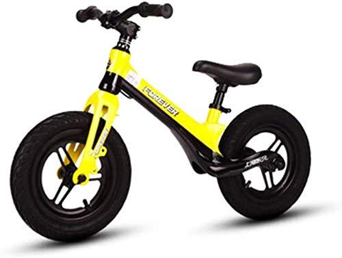 OYY Manufacture Balance de niños Carro de Diapositivas de Coche 1-3-6 años sin Pedal Bicicleta Bebé Niño Deslizante Andador (Color : Yellow)