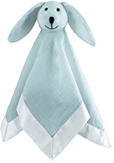 aden + anais Musy Mate Lovey Soft Blanket Muslin, Solid Winter Sky