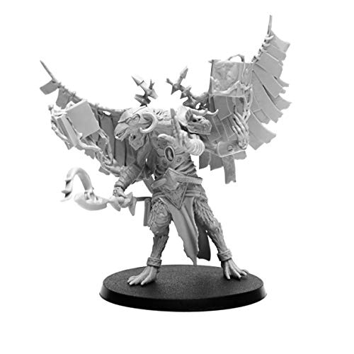 28mm Heroic Scale Wargaming Role Playing Miniature Figures AstroDemons - Unpainted Resin Miniatures for Tabletop Wargames - Demon Miniature Alcor