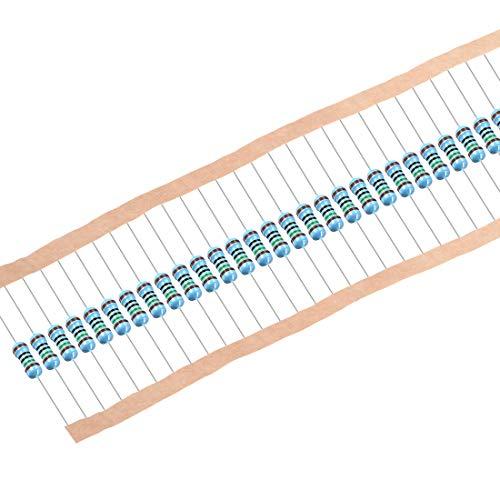 Sourcing Map Metallschichtwiderstände, 1/2 W, 150 Ohm, 0,5 W, 1 % Toleranzen, 5 Farbbänder, 50 Stück