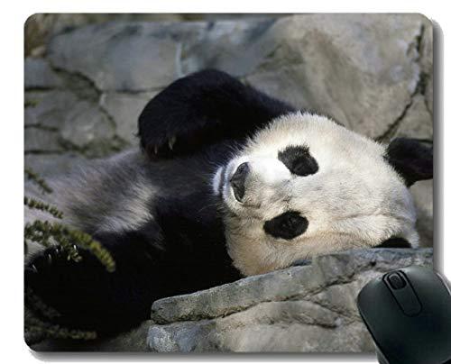 Yanteng Tappetino Mouse Bordi cuciti, Sogno sdraiati Animali Panda Gigante, Tappetino per Mouse, Tappetino in Gomma Antiscivolo Tappetino per Mouse per Laptop, Computer