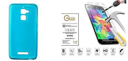 Para Asus Zenfone 3Max zc520tl zc520tc x008d 5.2Cubierta Cubierta Funda Carcasa Case Gel Silicona Azul/turquesa goma blanda TPU Slim + Protector Cristal Templado Pantalla Golpes 9H pantalla