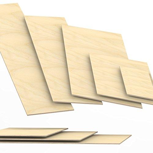 Preisvergleich Produktbild 6mm Sperrholz-Platten Zuschnitt Länge bis 150cm Birke Multiplex-Platten Zuschnitte Auswahl: 100x30 cm