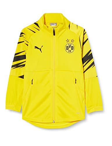 PUMA BVB Stadium Jacket Jr Trainingsjacke, Cyber Yellow Black-Home, 140