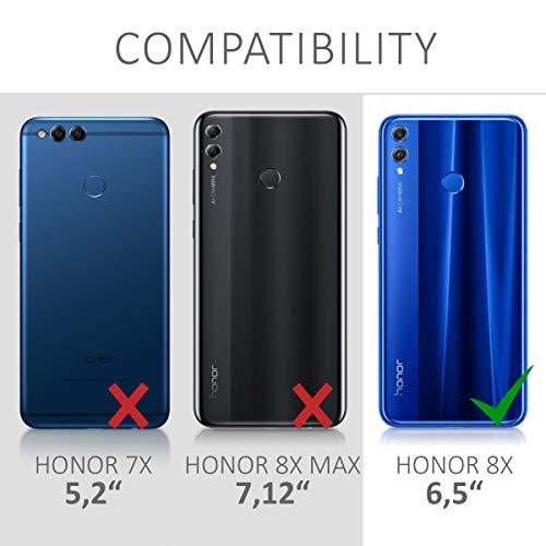 kwmobile Huawei Honor 8X Hülle - Handyhülle für Huawei Honor 8X - Handy Case in Travel Schriftzug Design Schwarz Mehrfarbig Transparent - 6