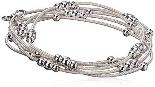 NINE WEST 'Ignite The Night Silver-Tone 5 Row Stretch Bracelet