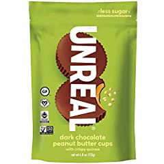 UNREAL is on a mission to build a world where you don't have to be afraid of your food, starting with your favorite indulgent snacks. Only 5g Sugar: we keep sugar to a minimum, without using sugar alcohols or artificial sweeteners. We carefully formu...