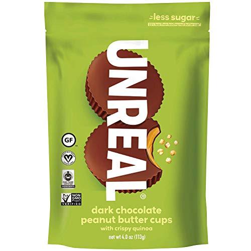 UNREAL Gluten-Free, Vegan, Non-GMO Dark Chocolate Crispy Peanut Butter Cups - 1 Bag