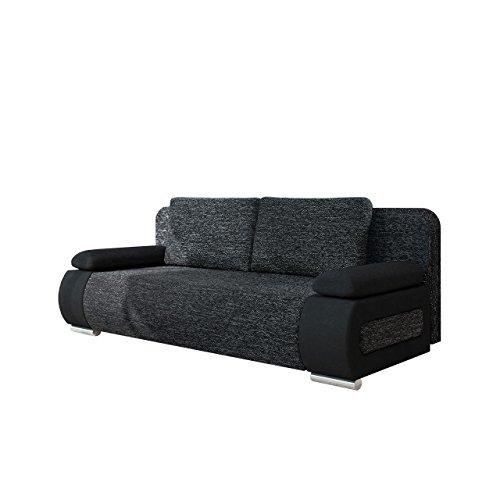 Schlafsofa Emma, Sofa mit Bettkasten und Schlaffunktion, freistehendes Bettfofa, Couchgarnitur, Schlafcouch, Couch vom Hersteller (Alova 04 + Lawa 06)