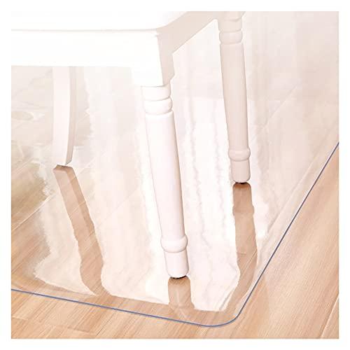 ALGXYQ Protector de Piso Transparente PVC Alfombra Antideslizante para Dormitorio Oficina Casa Hotel Anti-rasguños Esteras para Sillas (Color : 2.0mm, Size : 120x150cm)