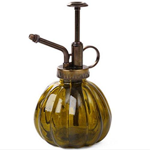 Kentop Wasser Sprühflasche Blumensprüher Vintage Kürbis Glas Sprühflasche Braun 9x16 cm
