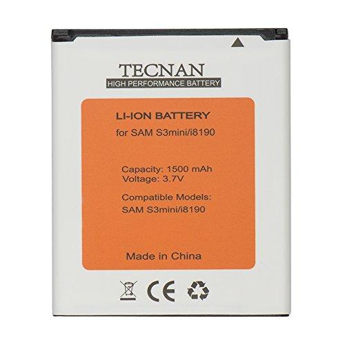tecnan Batterie Akku für Samsung Galaxy S3 Mini i8910 / Galaxy Ace 2 i8160 / Galaxy S Duos S7562 /Galaxy S Duos 2 S7582 / ersetzt EB425161LU Handy Ersatzakku Akku S3 Mini