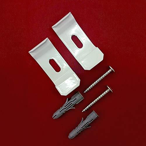 2 Stück Duo Doppelrollo Wandträger und Deckenträger Träger Metall für Wandmontage und Deckenmontage - UNIVERSAL