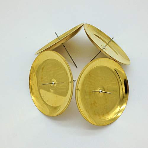 Modern 4 Adventskranz Kerzenhalter Baumkerzenhalter Kerzenstecker Adventskranz Gold