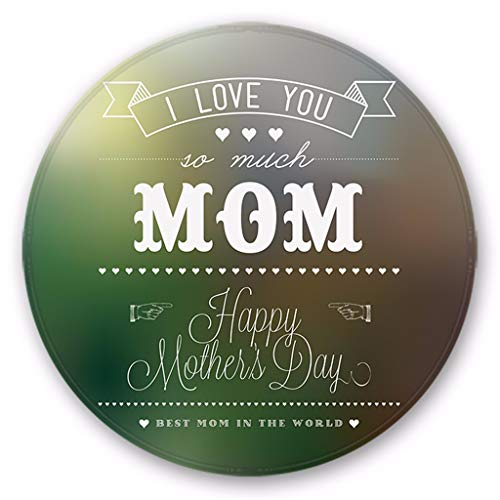YWLINK Muttertag Wohnzimmer Schlafzimmer Teppiche Happy Mother's Day Pattern Round Area Rug Mat