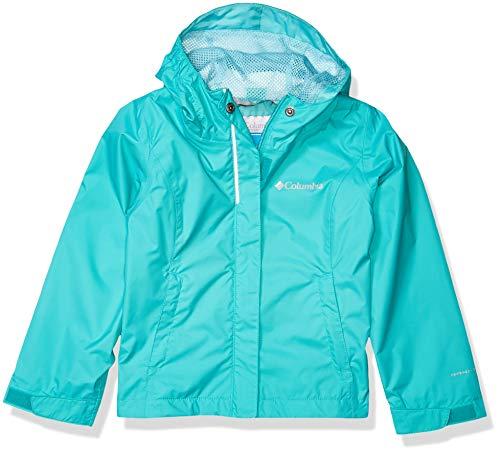Columbia Girls' Little Arcadia Waterproof Breathable Jacket, Bright Aqua, X-Small