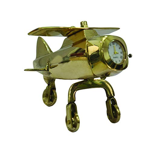 NK GLOBAL Tradición de latón reloj mesa decoración antiguo jet reloj coleccionables decoración adornos gestión tiempo reloj decorativo regalos