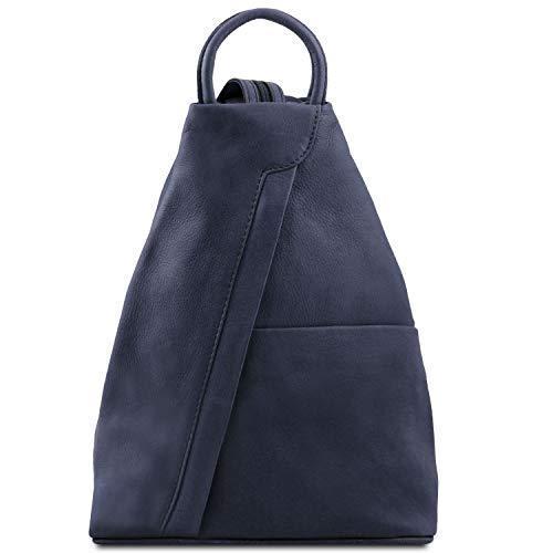 Tuscany Leather - Shanghai - Rucksack Tropfendesign aus Leder - TL140963 (Dunkelblau)