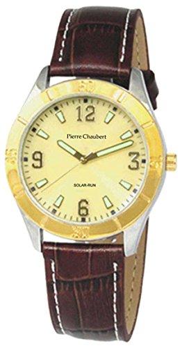Pierre Chaubert Herren-Armbanduhr Analog Quarz Leder SLAL34V2SV01