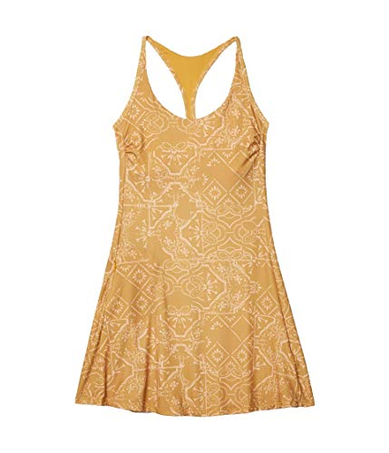 prAna Women's Opal Dress, Toffee Tiles, Large