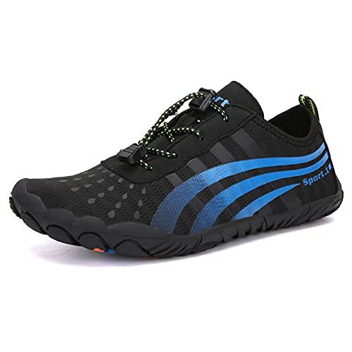 Y-PLAND Zapatos de vadeo al aire libre para hombres, Parejas Transpirables Zapatos de Playa de Cinco Dedos, Zapatos de Natación, Zapatos Deportivos Transpirables-Azul_UE40