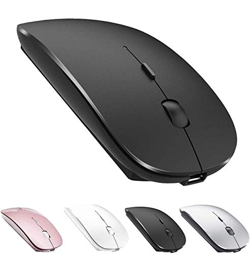Bluetooth Mouse Rechargeable Wireless Mouse for MacBook Pro,Bluetooth Wireless Mouse for Laptop PC Computer (Black)