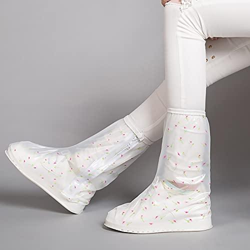 QYTS Funda impermeable para zapatos, funda de silicona reutilizable impermeable para botas de lluvia, protectores de goma de silicona, protector de silicona para exteriores/interiores
