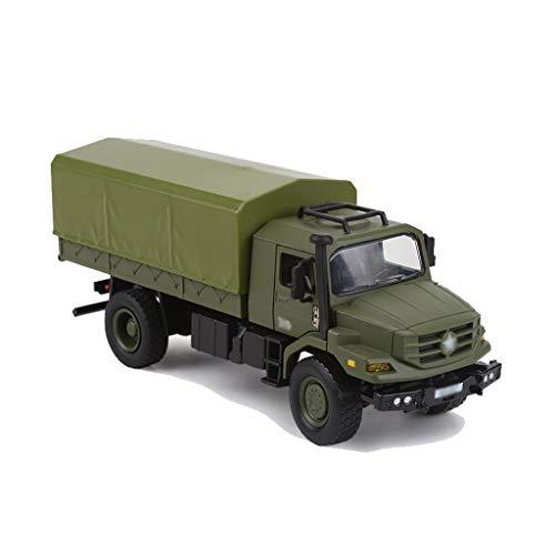 LINGLING-JOUETS 01:36 proportionnelle Alliage de Simulation Transporter Modèle de Camion Militaire Boy Toy Collection Cadeaux Ornements Hors Route du véhicule de contrôle à Distance Non