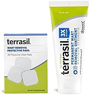 Permanent Wart Remover- for Genital & Facial Warts Maximum Strength Slow Safe Gentle Alternative for Sensitive Skin Dr Recommended Guaranteed All Natural Pain Free Salicylic Acid Free by Terrasil
