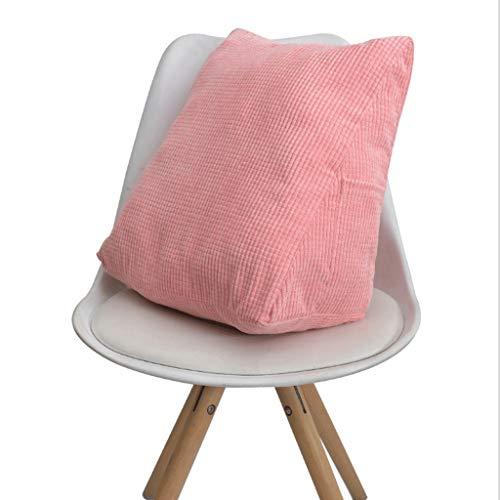 Chenweiwei driehoekige sofakussen, afneembare zuivere kleurstrepen, rugleuning, wig, kussen, leeskussen, voor bureaustoel, balkon