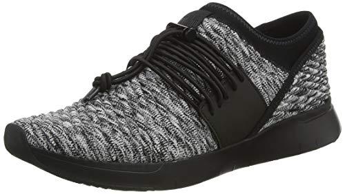 Fitflop Damen Artknit Angeline Lace Up Sneaker, Schwarz (Black Mix 231), 41 EU
