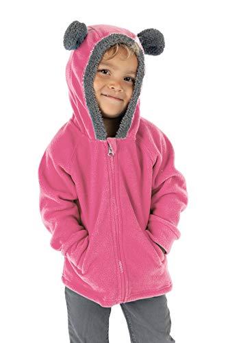Cuddle Club Chaqueta Polar niño/niña Ropa Bebé y Niño de 0 a 5 años – Abrigo/Disfraz Bebé para Exterior con Cremallera y Capucha – BearFleeceJacketPink18-24m