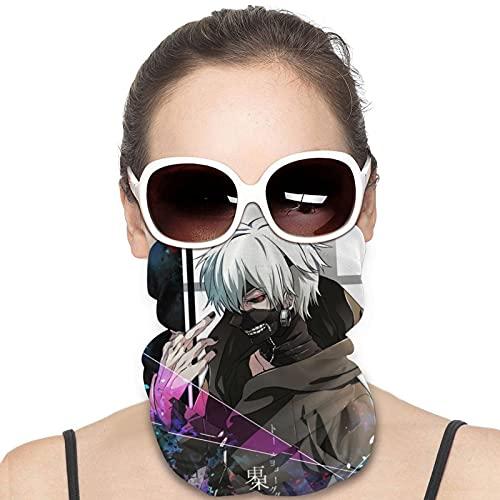 Tokyo Ghoul Ken Kaneki - Polainas de cuello de anime para hombre y mujer, calentador de pañuelo, pañuelo para pasamontañas, impresión 3D, reutilizable, multifuncional, para montañismo