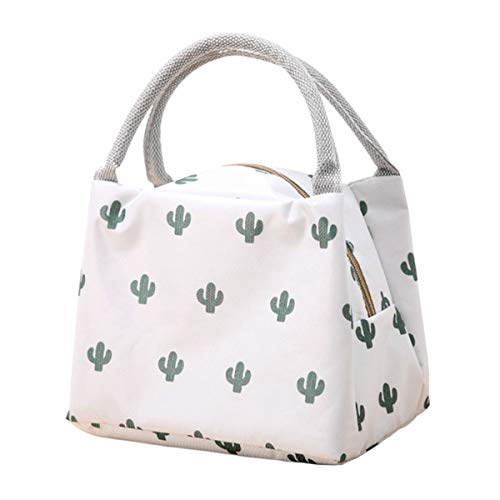 IMIKE Lunch Bag Resuable Large Capacity Lunch Toe Bag for Women Insulated Thermal Lunch Box Lunch Container (Cactus)