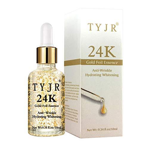 Allbestaye 24K Goldfolie Serum Makeup Base Anti Aging Straffende Lighten Fine Lines Haut Gesichtscreme Essenz