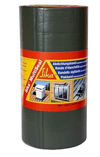 Sika Multiseal Gris, Bande détanchéité autocollante résistante àla déchirure, aux intempéries, multi-supports, 300mm x 10m