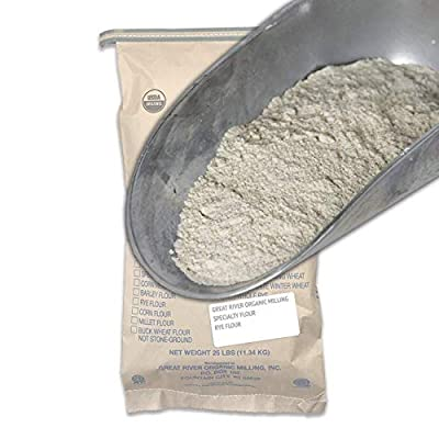 Great River Organic Milling Dark Rye Flour, 22 Ounce (Pack of 4)