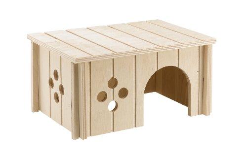 Ferplast 84645099coniglio casa Sin 4645, in legno, dimensioni: 26x 17,3x 13cm