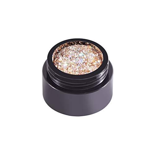 Nail Polish Gel Nagellack Glitter UV LED Maniküre Glossy Sequins Diamant Platin Kleber Nagel Langlebiger glänzender, entfernbarer Pailletten Wunderschön für glänzende und schöne Nägel Nagelfleck