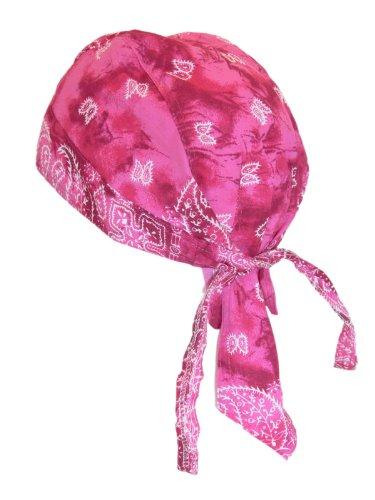 Bandana Cap Kopftuch Paisley Pink Shadow