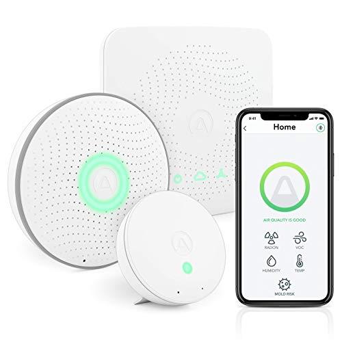 Airthings 4200 Kit de casa, Radón, Riesgo de Molde y Sistema de Monitoreo de Calidad del Aire Interior, Multi-Room