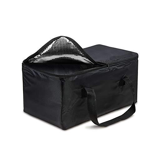 achilles Kühl-Tasche Kühl-Einsatz Thermo-Tasche für Klapp-Box Kühl-Box Einkaufs-Tasche Isolierung schwarz, 37 cm x 19 cm x 20 cm