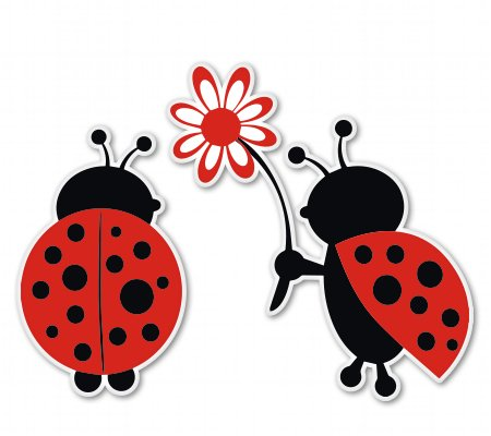 AK Wall Art Ladybug Love Cute Vinyl Sticker - Car Window Bumper Laptop - Select Size